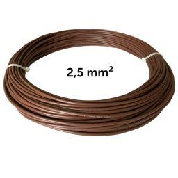 Leiter braun 2,5 mm², Wicklung 25 m