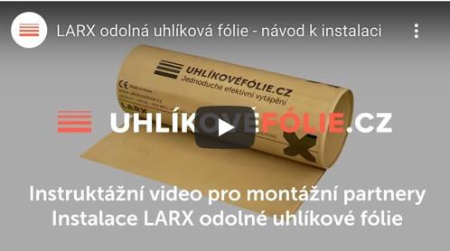 Installation der LARX beständigen Heizfolie 150W/m²