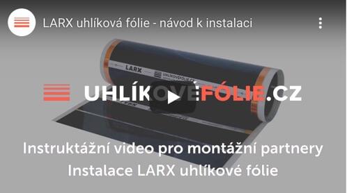 Installation der LARX Heizfolie 100W/m² und 180W/m²